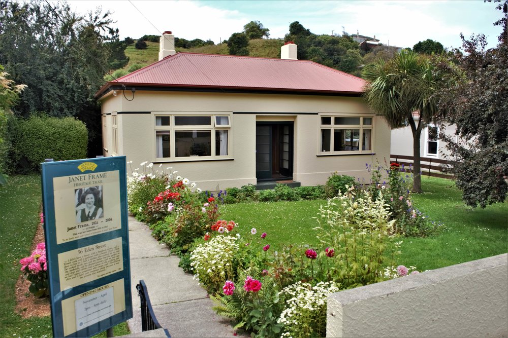 House of Janet Frame in Oamaru. A Book Lover's Guide to the South Island, New Zealand.