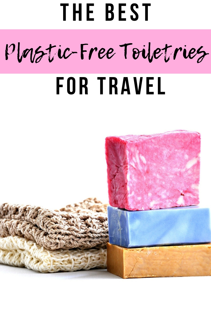 A guide to ridding plastic from your travel toiletries. Shower and beauty products that are plastic free and perfect for travel! #plasticfree #plasticfreetoiletries #toiletries #bathroom #travel #zerowaste