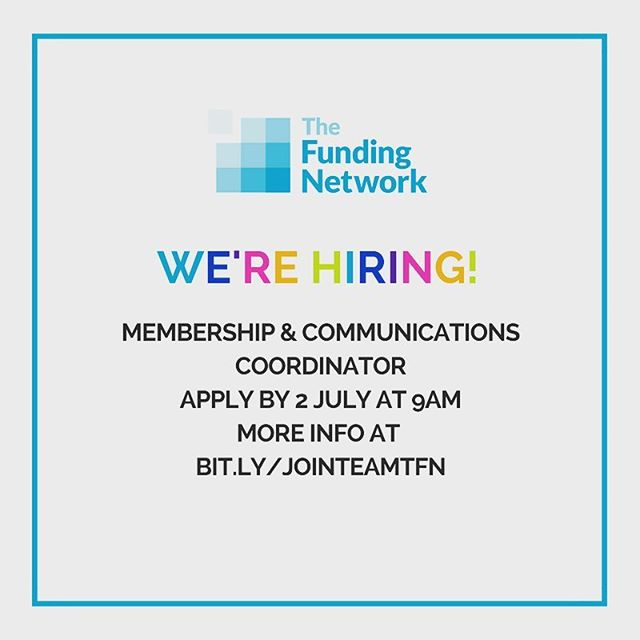 Looking for a cool new job? Our parent charity The Funding Network is looking for a new team member! Join at bit.ly/JoinTeamTFN  #charity #charityjob #charityjobs #londonjobs #comms #commsjobs