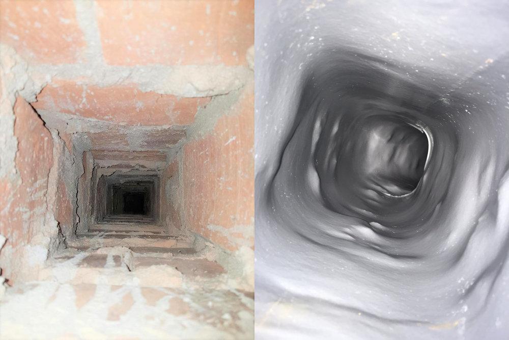 Före och efter installation Linervent Pollex kanaltätning.jpg