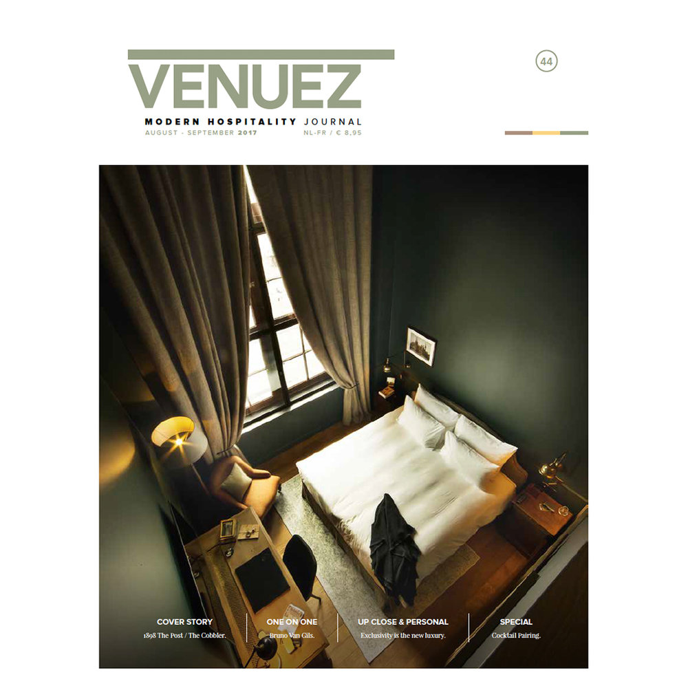 VENUEZ44 is out - Cover Story: 1898 The Post & The CobblerOne on One: Bruno Van GilsUp Close & Personal: Exclusivity is the new luxurySpecial: Cocktail Pairing