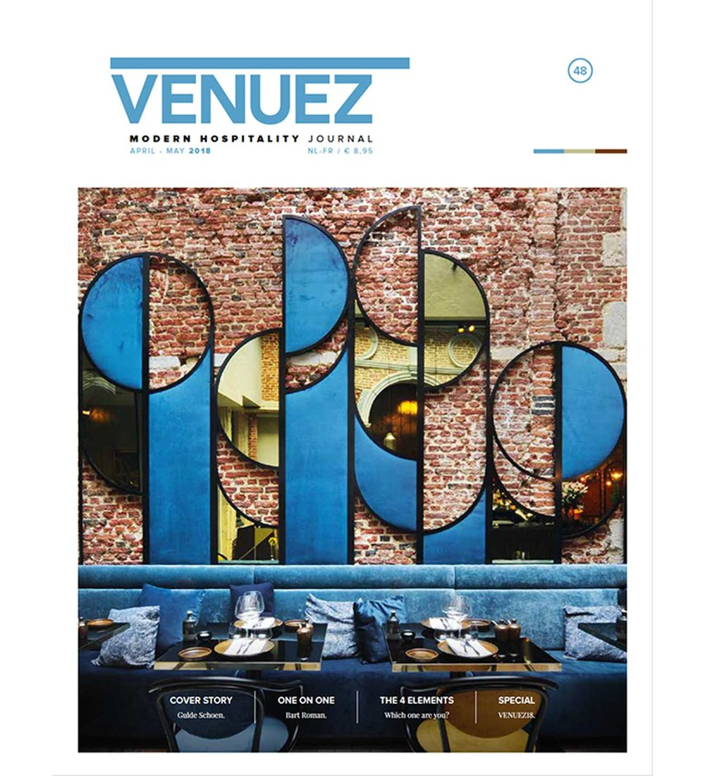 VENUEZ48 is out - Cover Story: Gulde SchoenOne on One: Bart RomanThe 4 Elements - Which one are you?Special: VENUEZ18