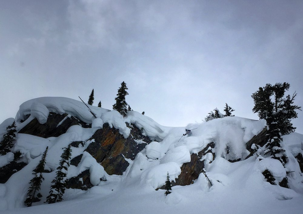Stacking pillows on the way up to Ursus Minor, Roger's Pass. Photo: Jarred Martin