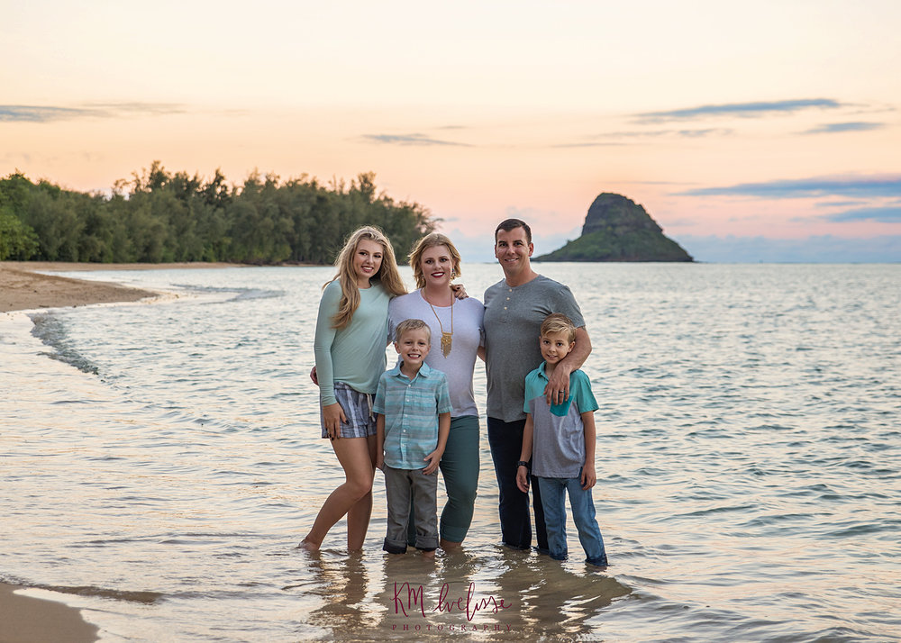 Kualoa regiona beach park mokolii island family photos family photographer