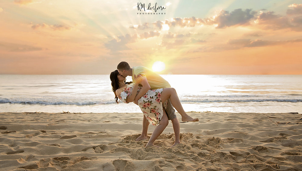 Sunrise session here on Oahu on the east side of the island in Bellows Beach. Family photography