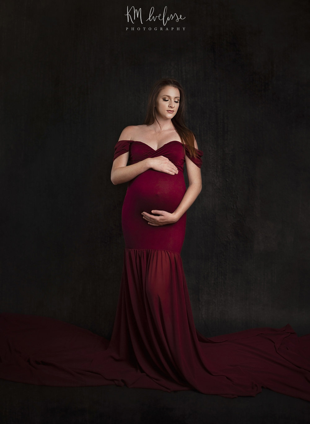 One of my beautiful maternity clients was amazing enough to model this maternity dress for me in my home studio! Maternity photography on Oahu Hawaii