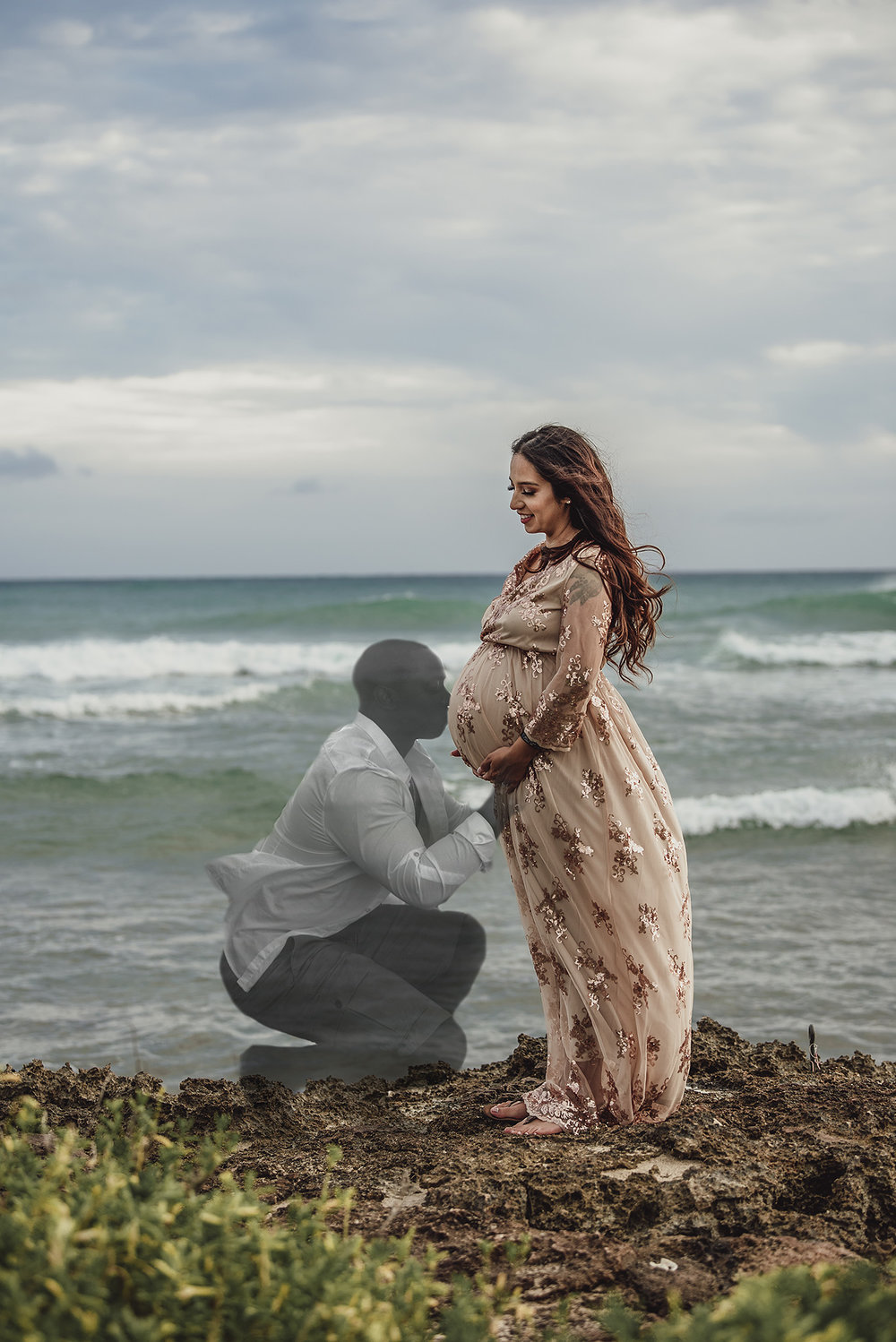 Barbers point oahu hawaii maternity memorial photoshoot tragic life lost while wife carries his last legacy