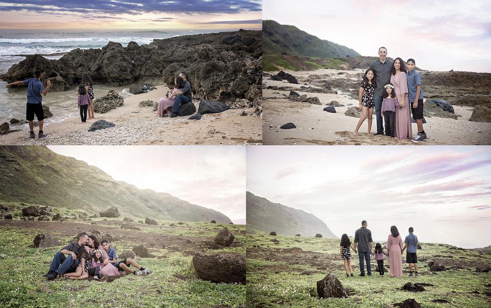 Sunrise Kaena Point family session