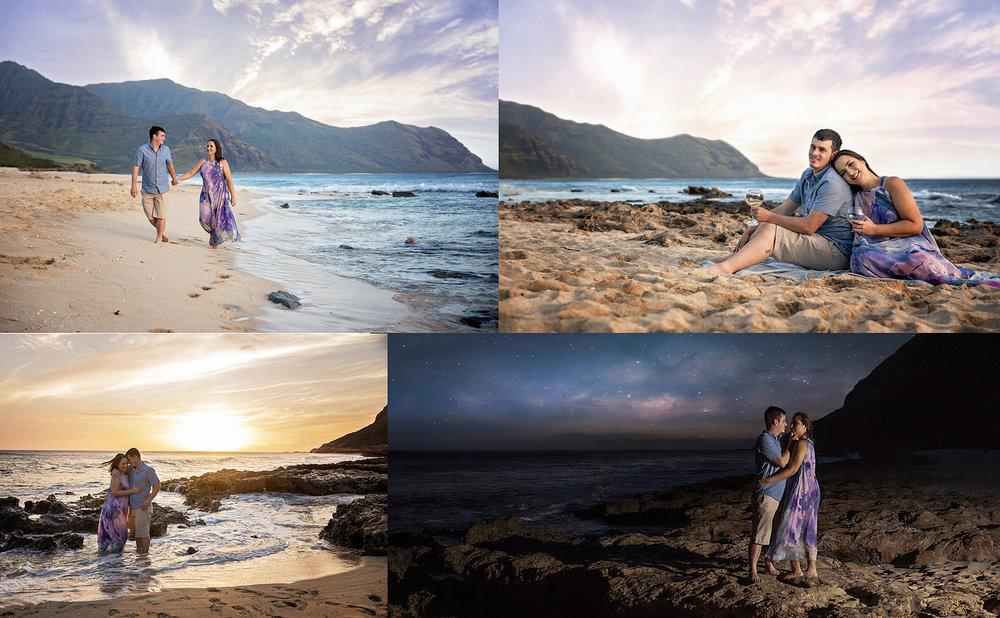 couples session on the west side of oahu hawaii yokohama beach