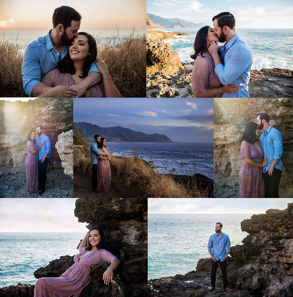 couples session at kaena point in waianae oahu hawaii
