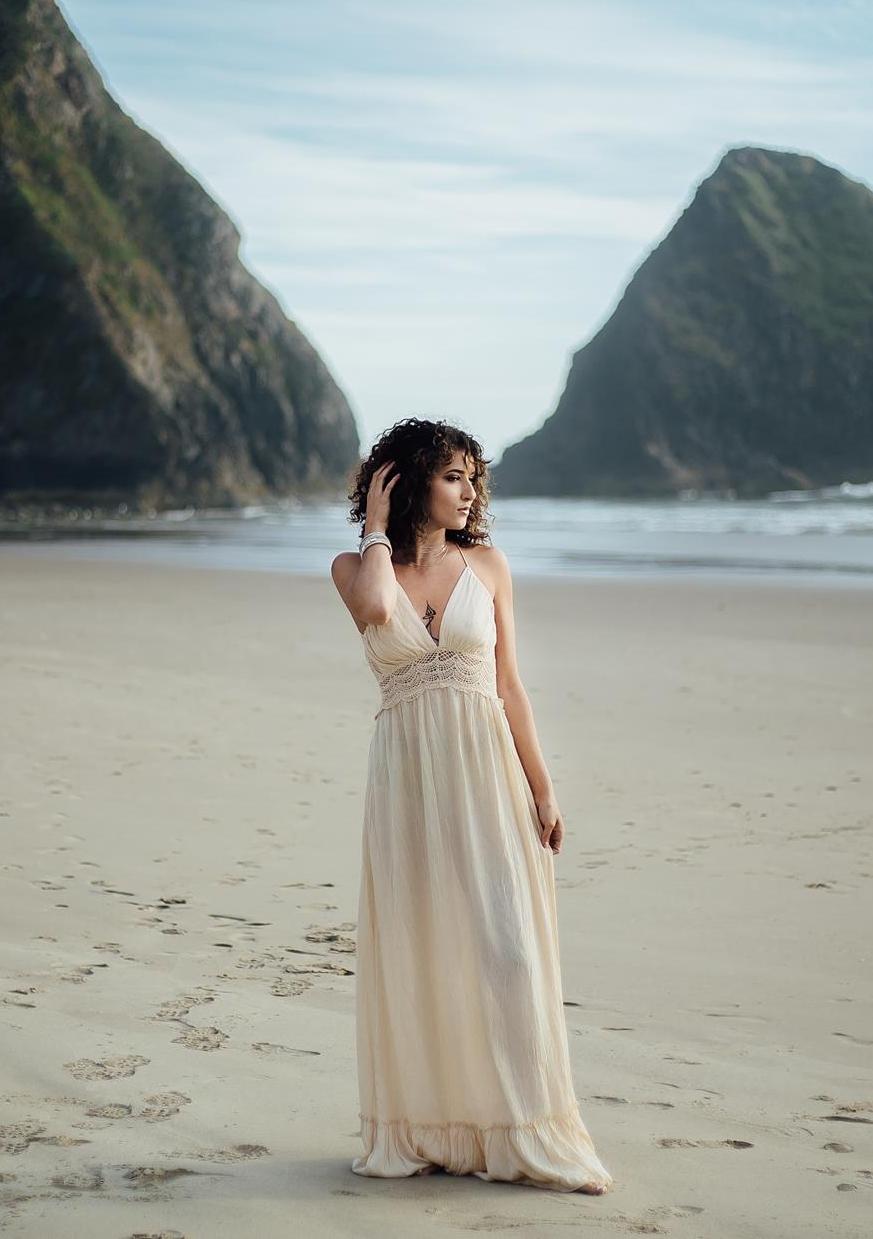 Cream Nia Gown  *STOCK IMAGE*