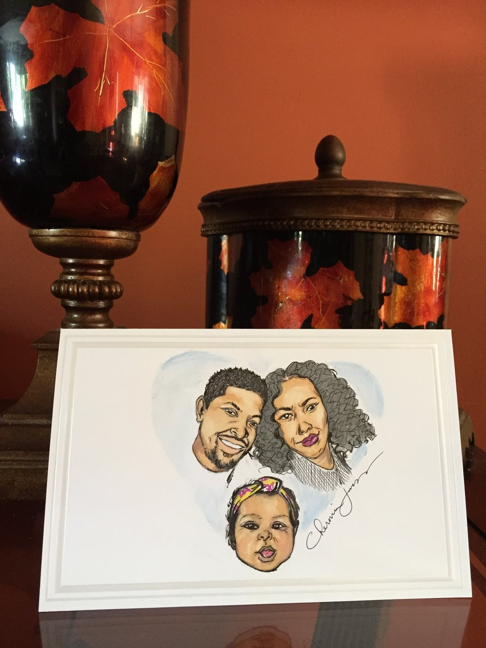 Illustrated Family Portrait Greeting Cards