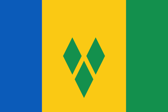 flag of st.vincent and the greanadines