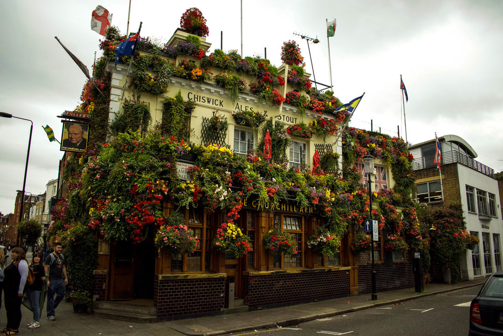 10. The Churchill Arms - *The Most Beautiful Restaurant in London!