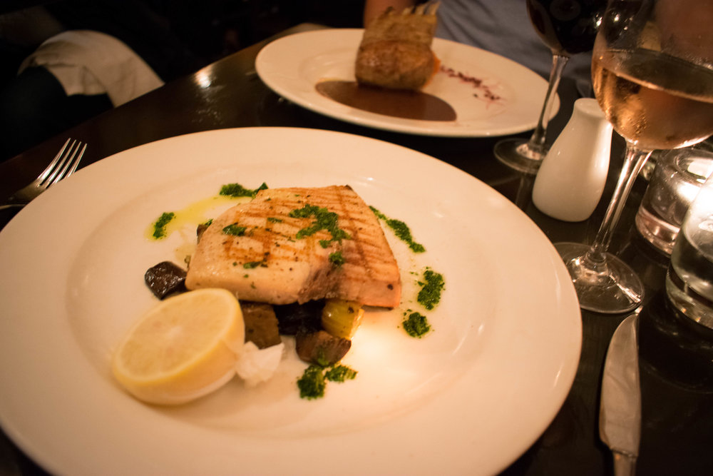 Grilled Swordfish & Rack of Lamb