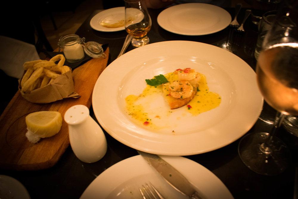 Calamari & Shrimp Bruschetta