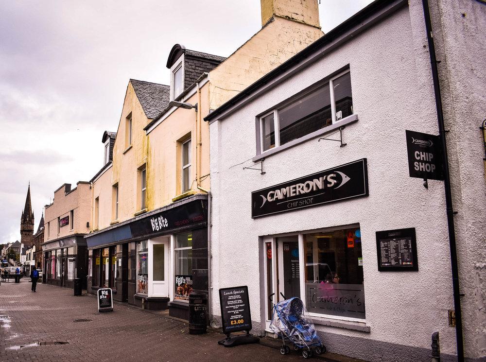 Cameron's Chip Shop, Stornoway, Scotland