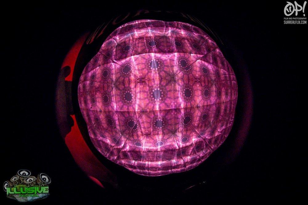 Into Infinity - Kaleidoscopic Mandala Machine - Interactive Outdoor Installation