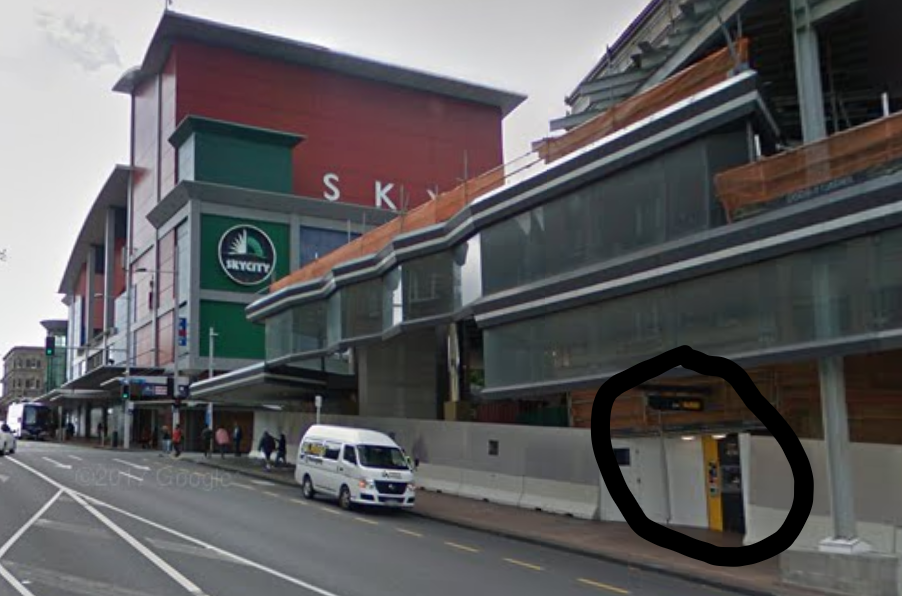 The closest ATM is on Wellesley Street by Sky City, a short 5 minutes walk from me.