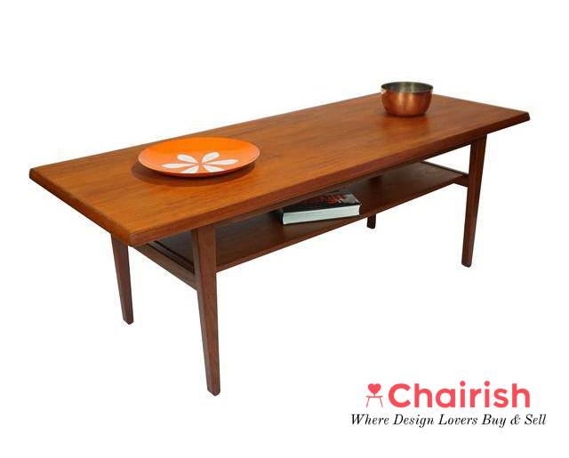 Danish Mid-Century Teak Coffee Table $895
