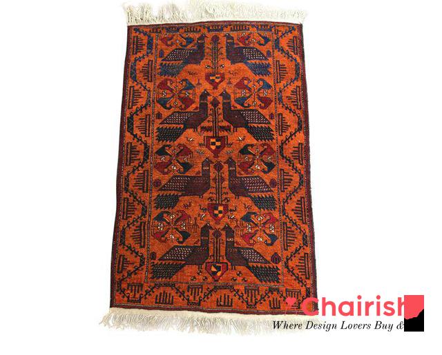Vintage Afghan Tribal Handwoven Wool Rug $290