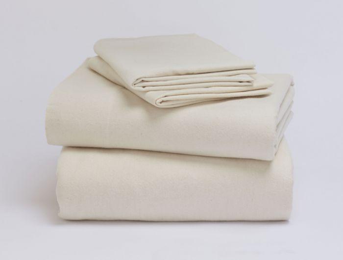 Coyuchi brushed flannel sheet
