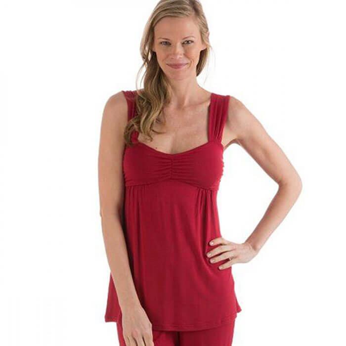 VivaTerra Eco-Weave Sleeveless Pajama Set