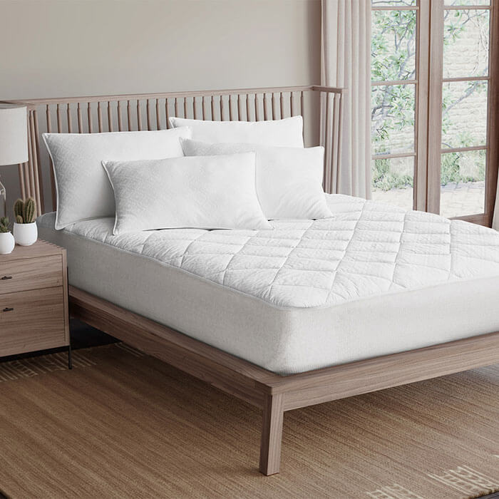 DOWNLITE Luxury 600 TC Down Alternative Mattress Pad