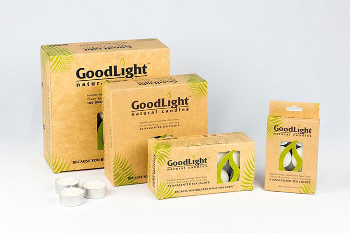 GoodLight Paraffin-free Tea Natural Candles