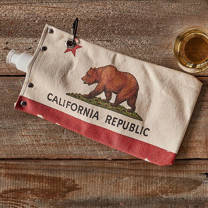 California Delicious State Flag Wine Bota Bag