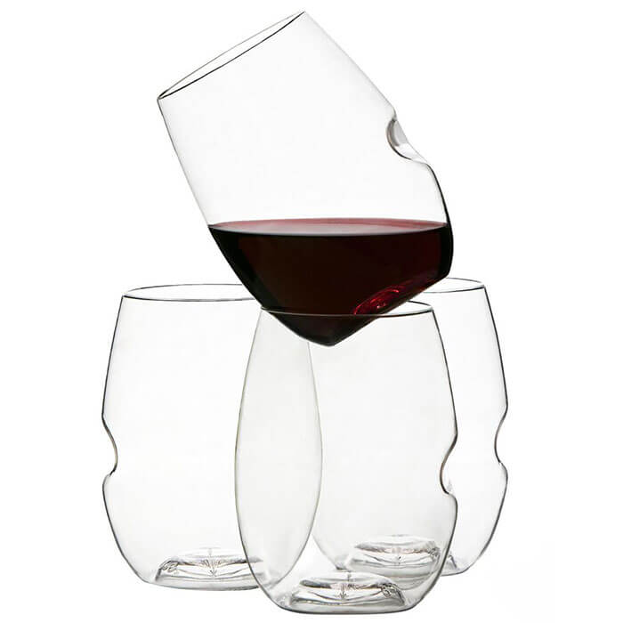 Govino Go Anywhere Classic Stemless Shatterproof Wine Glasses