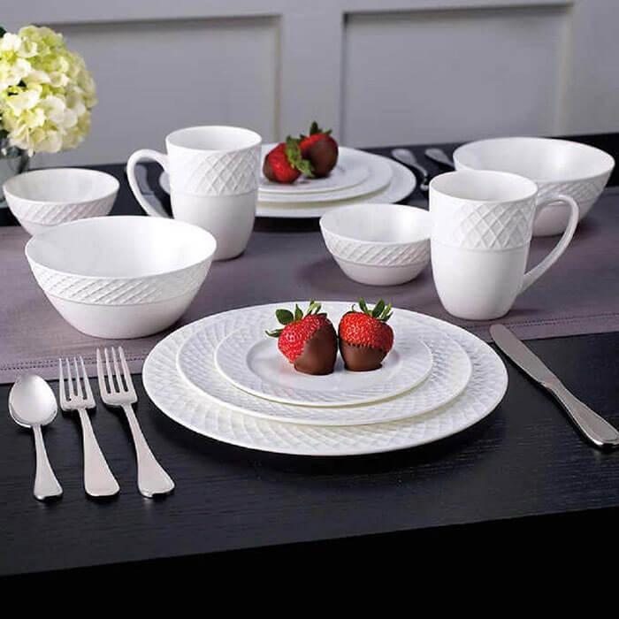 Mikasa Trellis 36 Piece Dinnerware Set