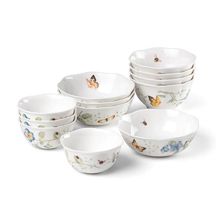 Lenox Butterfly Meadow 12-Piece Bowl Set