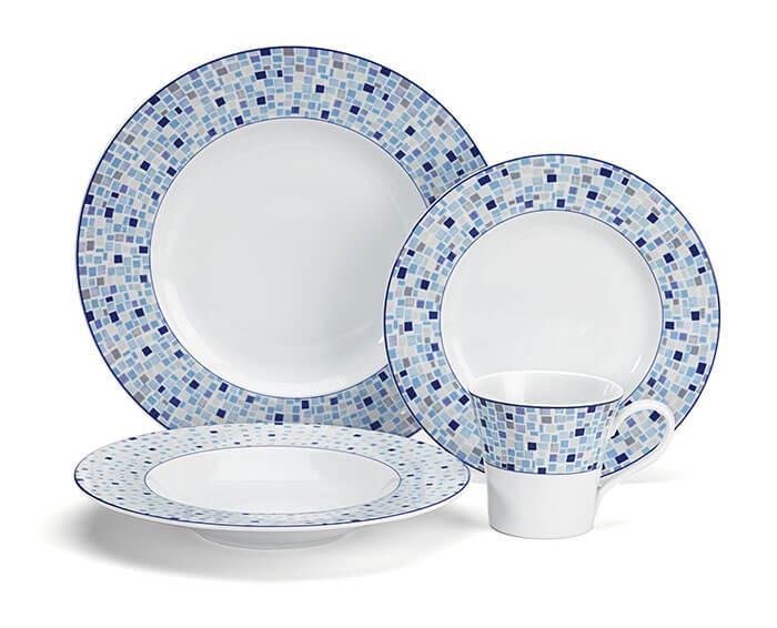 Cuisinart Aleria Collection 16-Piece Porcelain Dinnerware Set