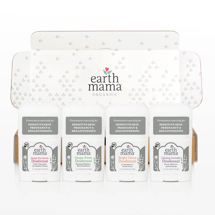 Earth Mama Organics Mini Deodorant 4-Pack