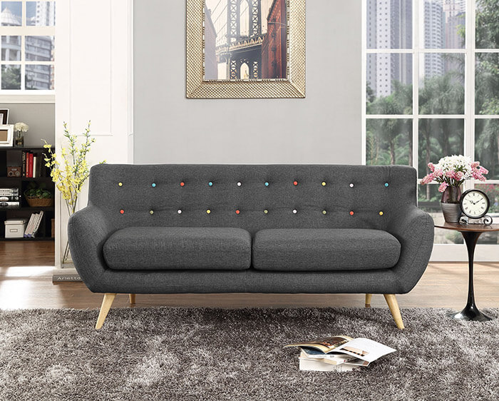 LexMod Remark Upholstered Fabric Sofa