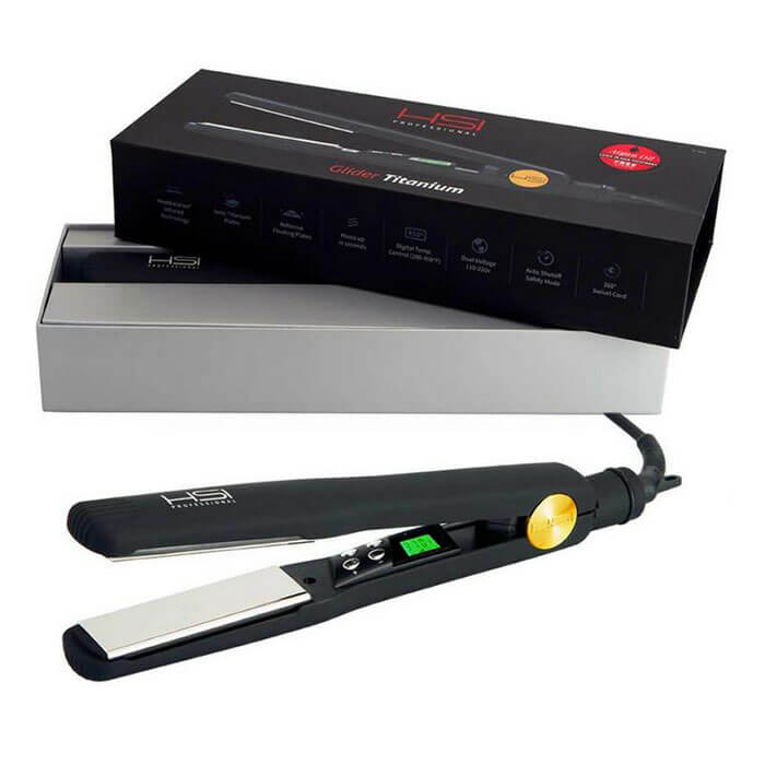 HSI Professional Glider Elite Titanium Flat Iron Hair Straightener