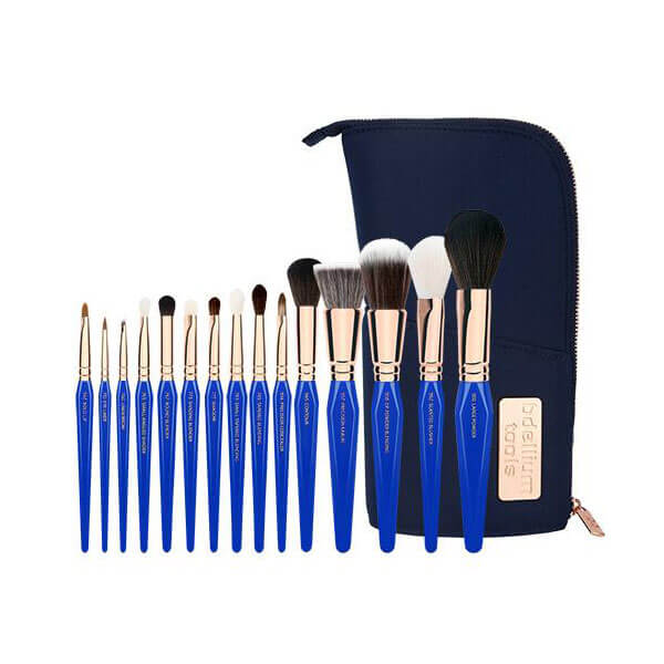 Bdellium Tools Golden Triangle Phase 1 Complete 15pc. Brush Set with Pouch
