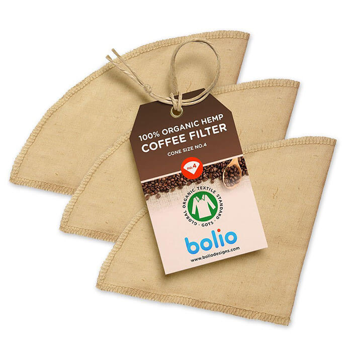 Bolio Organic Hemp Cone Coffee Filter