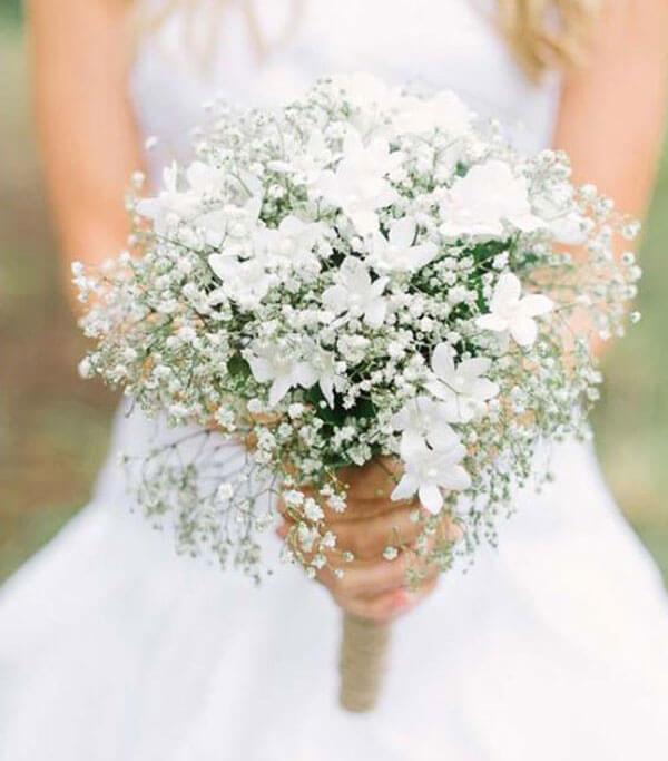 Flower Explosion Winter Bridal Bouquet