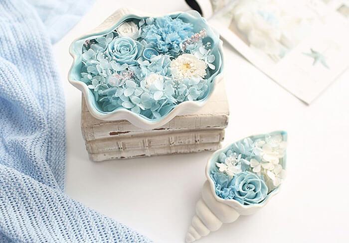 The Apollo Box Preserved Flowers in Ceramic Vase