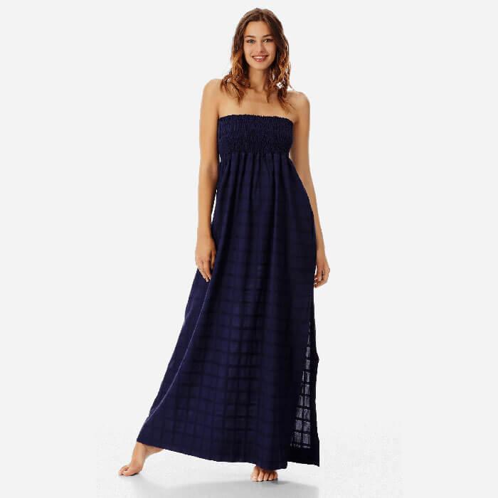 Vilebrequin Long Bustier Cotton Voile Dress