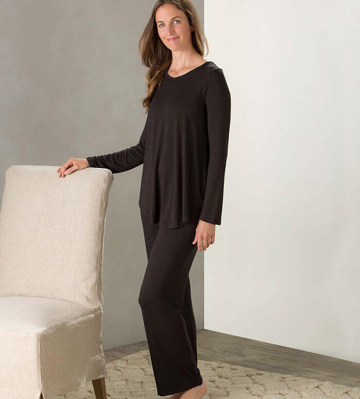 Viva Terra Eco Weave Long Sleeve Top and Ankle Pant Pajama Set