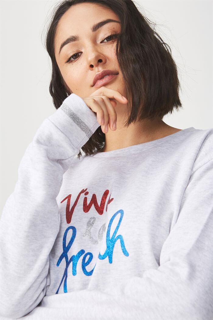 Cotton On Ferguson Graphic Crew Sweatshirt