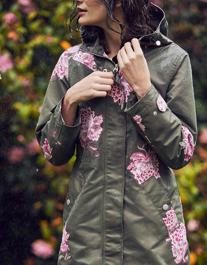 Joules Raine Print Waterproof Parka