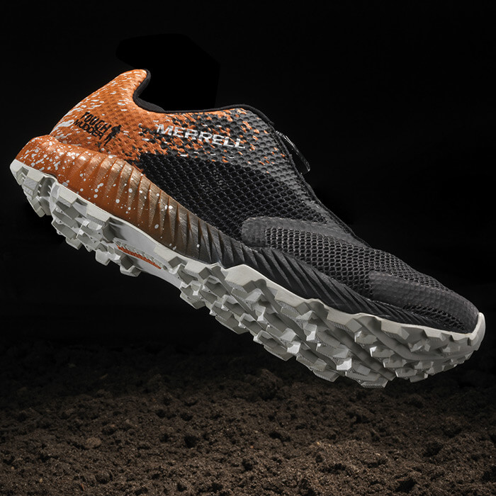 Tough Mudder Orange Merrell All Out Crush Shoe 2.0