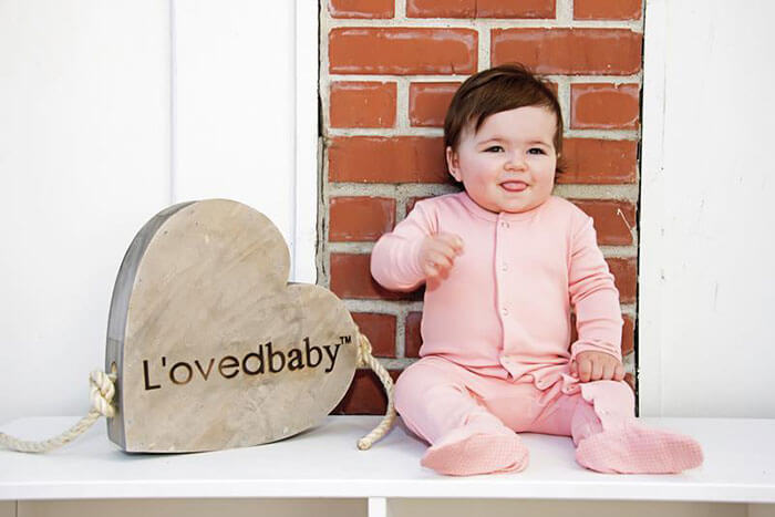 The Baby Cubby L'ovedbaby Organic Cotton Footed Overall