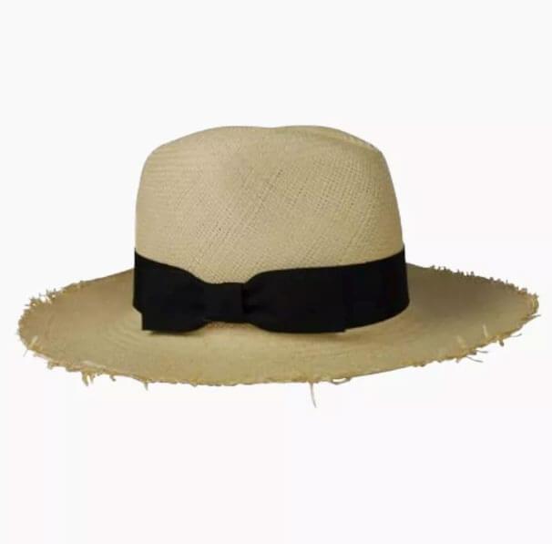 Bikini Natural Fringed Continental Hat