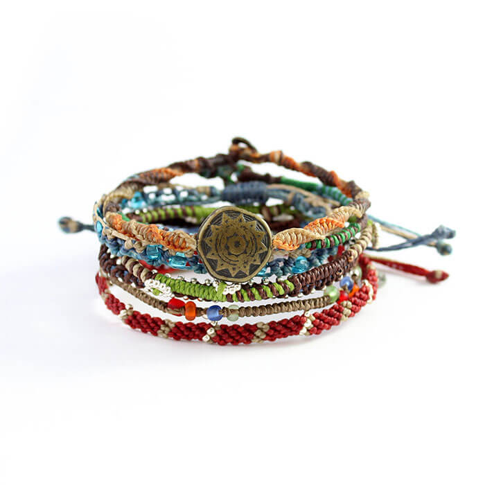 Wakami Earth Bracelet Set of 7 Strands