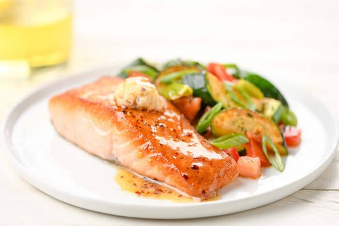 Home Chef Hot Honey Salmon